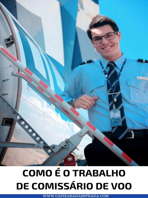 como é o trabalho de comissário de voo